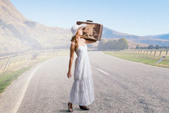 She is traveling light Royalty Free Stock Images