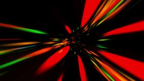 Traveling Through Lights In A Vortex. Traveling Fast In A Wormhole Through Space And Time stock video