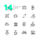 Traveling - line icons set Royalty Free Stock Image