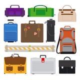 Traveling Luggage icons Royalty Free Stock Image