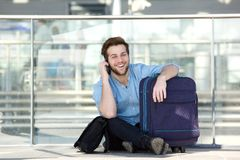 Traveling man Stock Images