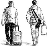 Traveling men Royalty Free Stock Photos