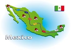 Traveling in Mexico Stock Image