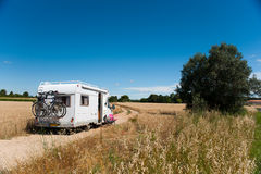 Traveling by mobil home Stock Photos