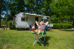 Traveling by mobil home Royalty Free Stock Photography