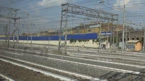 Traveling by modern Italian railways.  stock footage
