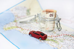 Traveling money spending. Royalty Free Stock Photography