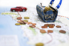 Traveling money spending. Stock Photography
