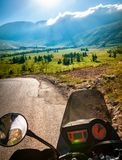 Traveling on the motorbike Royalty Free Stock Photos