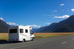 Traveling by motorhome Stock Photography