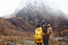 Traveling in mountains Royalty Free Stock Images