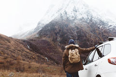 Traveling in mountains Stock Image