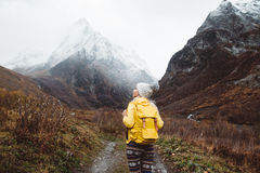 Traveling in mountains Royalty Free Stock Image