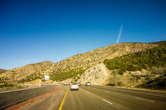 Traveling through new mexico state near albuquerque Royalty Free Stock Photos