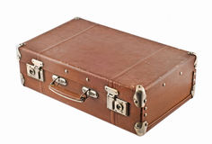 Traveling - old-fashioned suitcase Royalty Free Stock Images