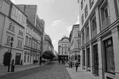 Traveling in the Old town in Bratislava royalty free stock image