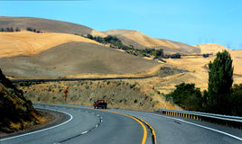 Traveling an Oregon Highway Stock Photography