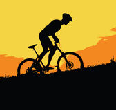 Biking on the mountains Royalty Free Stock Photo