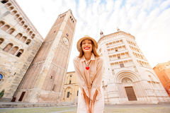 Traveling in Parma town Stock Image
