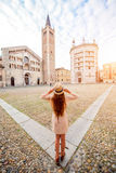 Traveling in Parma town Royalty Free Stock Image