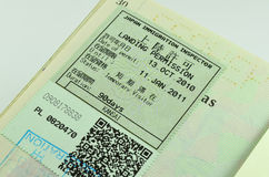 Traveling passport Stock Photos