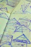 Traveling passport Stock Image