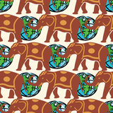 Traveling pattern. colorful seamless graphic background Royalty Free Stock Photo