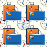Traveling pattern. colorful seamless graphic background Stock Photography