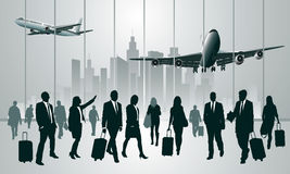 Traveling people Stock Image