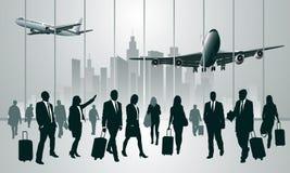 Traveling people Stock Image