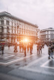 Traveling people in motion blur Royalty Free Stock Photos