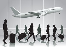 Traveling people Royalty Free Stock Images