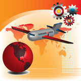 Traveling plane Stock Images