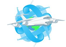Traveling by plane Stock Image