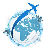 Traveling by plane Stock Photography