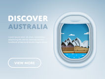 Traveling by plane. Landmarks in the window. Royalty Free Stock Photos