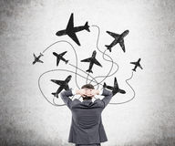 Traveling by plane Royalty Free Stock Image