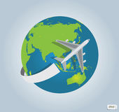 Traveling by a plane Royalty Free Stock Photo