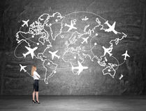 Traveling by plane Royalty Free Stock Photos