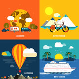 Traveling and planning a summer vacation Royalty Free Stock Image