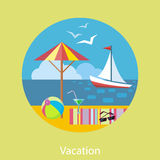 Traveling and Planning a Summer Vacation Stock Photos