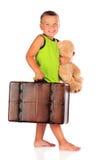Traveling Preschooler Royalty Free Stock Photos