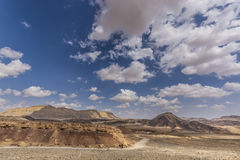 Traveling at Ramon crater Royalty Free Stock Images