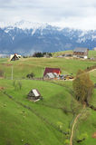 Traveling in Romania. View of Bucegi mountains from Petstera village, Romania Royalty Free Stock Photos