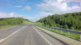 Traveling on the route of Altai Krai. Traveling on the route of the Altai Krai stock video footage