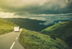 Traveling in RV Camper Van Royalty Free Stock Photography