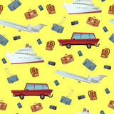 Traveling Seamless Pattern Stock Images