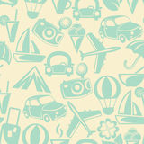 Traveling seamless pattern Stock Photography
