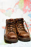 Traveling Shoes Royalty Free Stock Photography