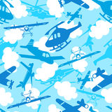 Traveling in the sky seamless pattern Stock Photo